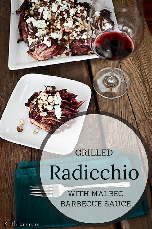 Grilled Radicchio with Malbec Barbecue Sauce