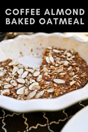 coffee almond baked oatmeal