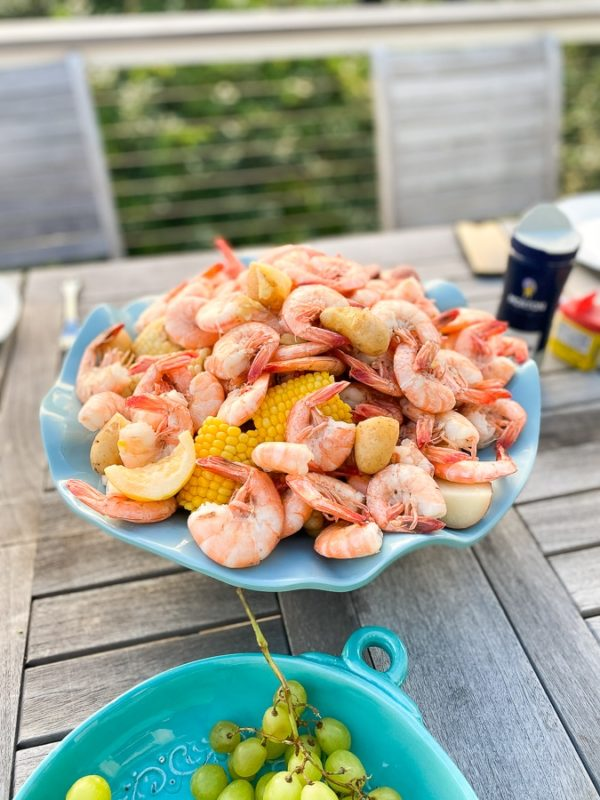 low country boil dish on table