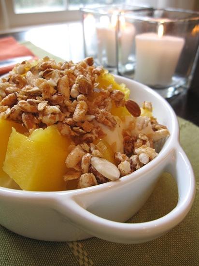 greek yogurt + mango