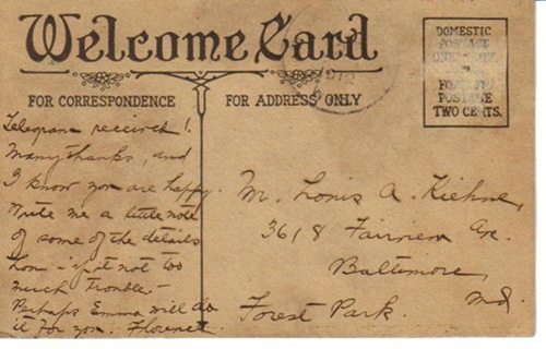 Postcard 1918