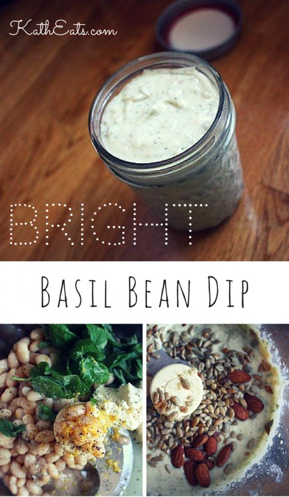 Bright Basil Bean Dip