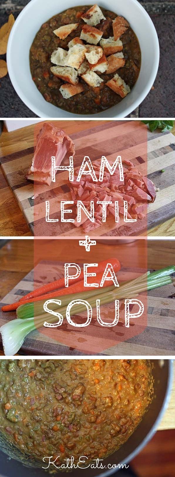 Ham Lentil + Pea Soup