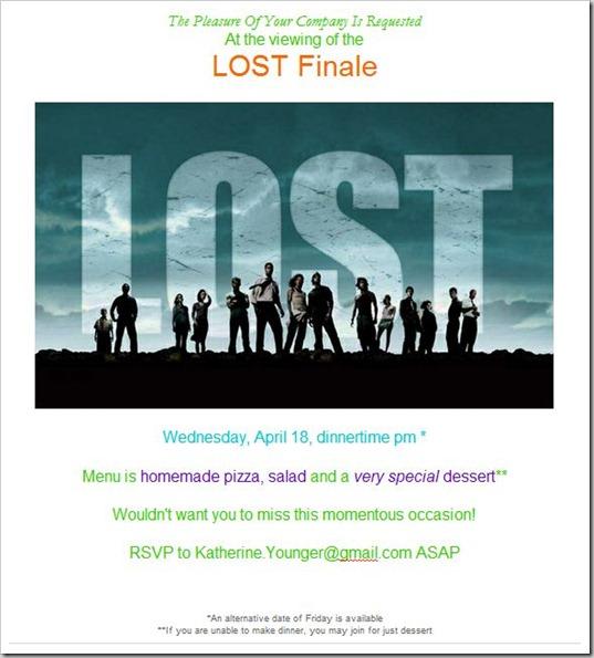 LOST invite