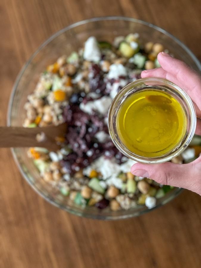 greek salad dressing with lemon and olive oil