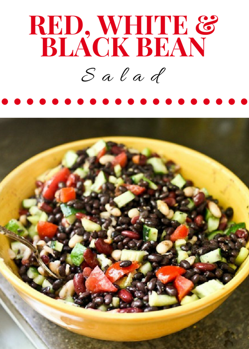 Red, White, and Black Bean Salad