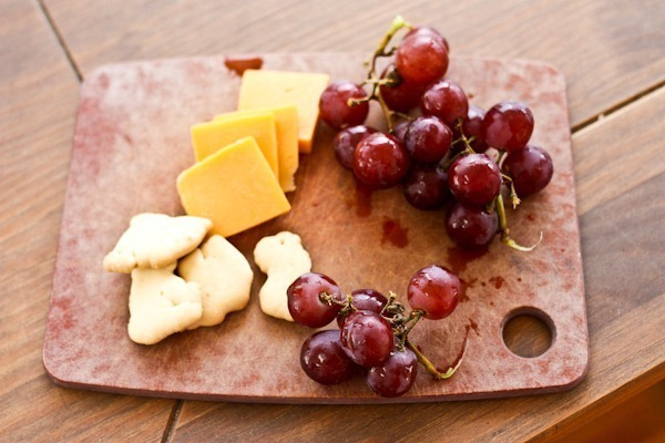 Grapes cheese