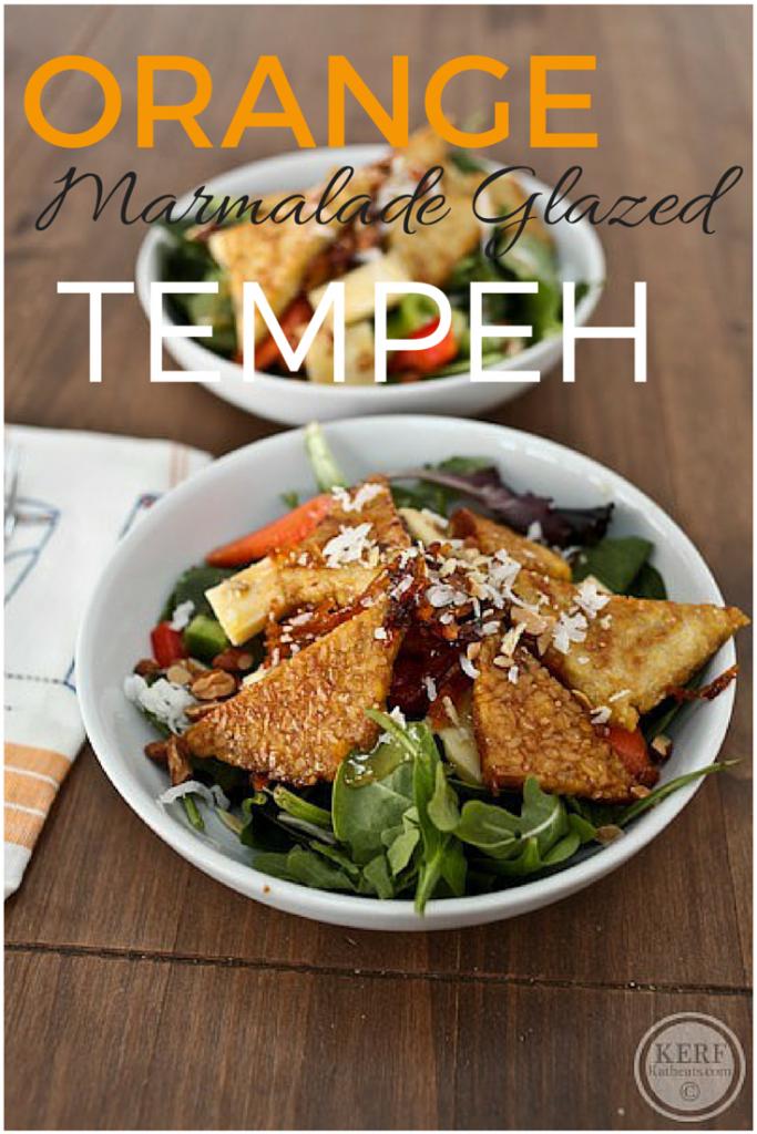 Orange Marmalade Glazed Tempeh