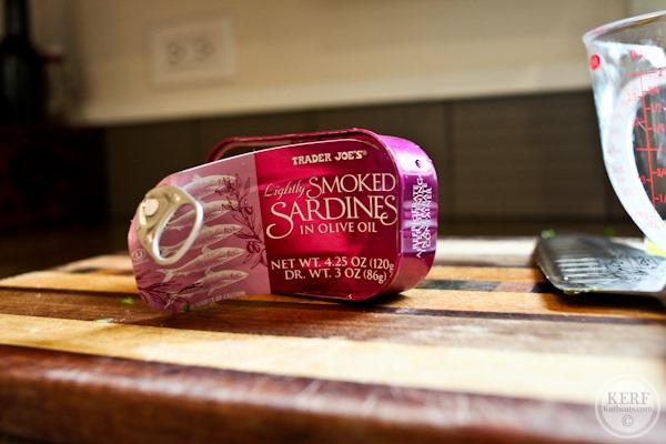 smoked sardines tin