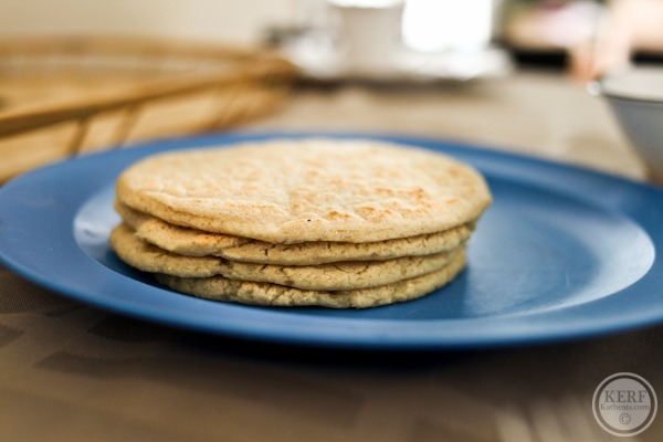 stack of homemade tortillas