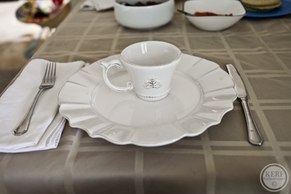 Salvadoran Breakfast place setting