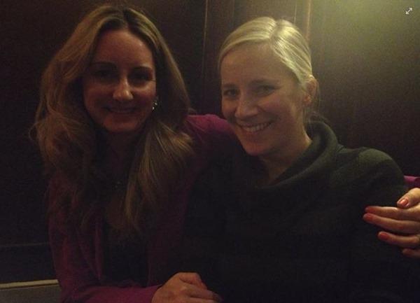 With Sarah