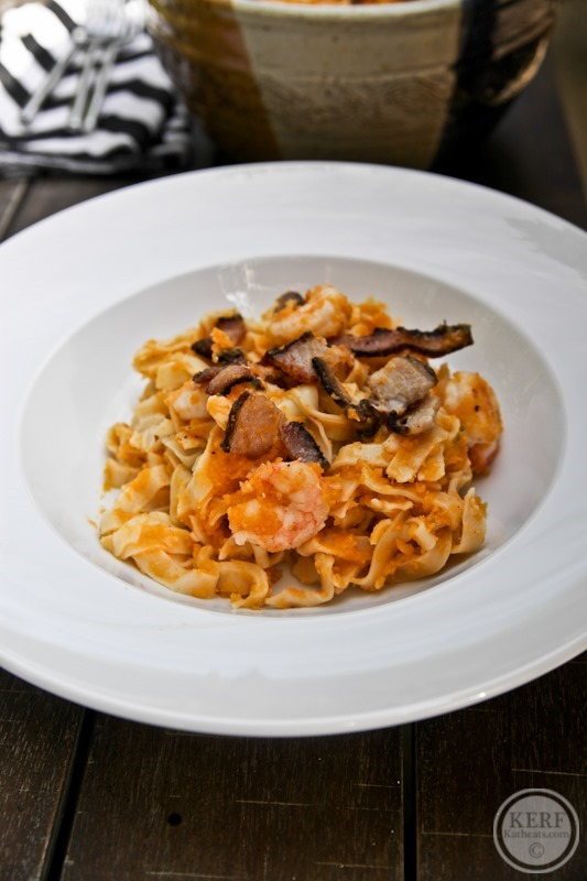 Shrimp Pasta With Butternut Squash Sauce