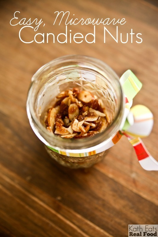 Easy, Microwaved Candied Nuts // Katheats.com
