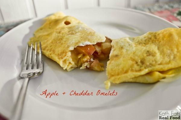 apple cheddar omelette