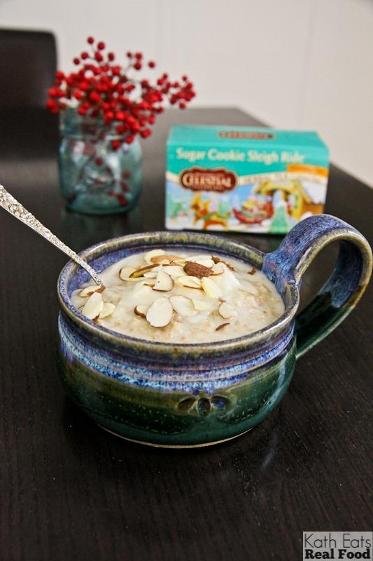 Sugar Cookie Sleigh Ride Oatmeal // katheats.com
