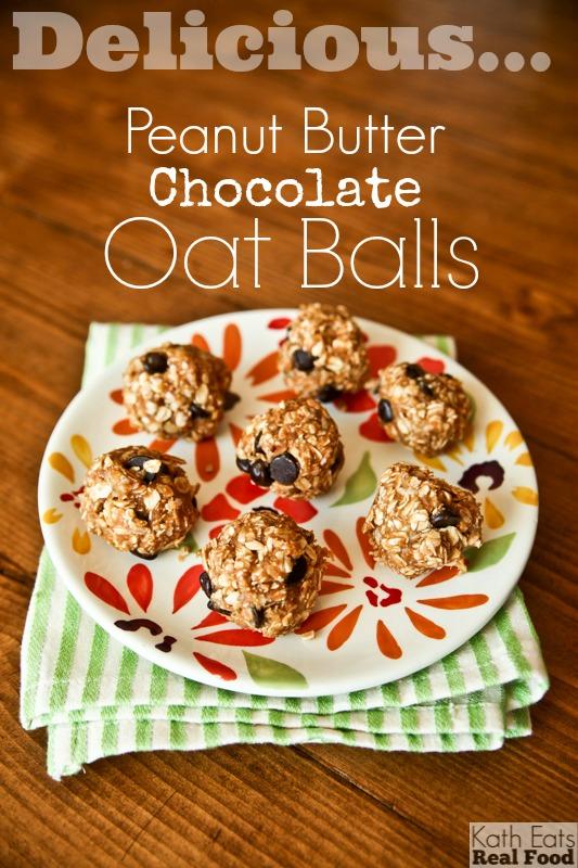 Peanut Butter Chocolat Oat Balls