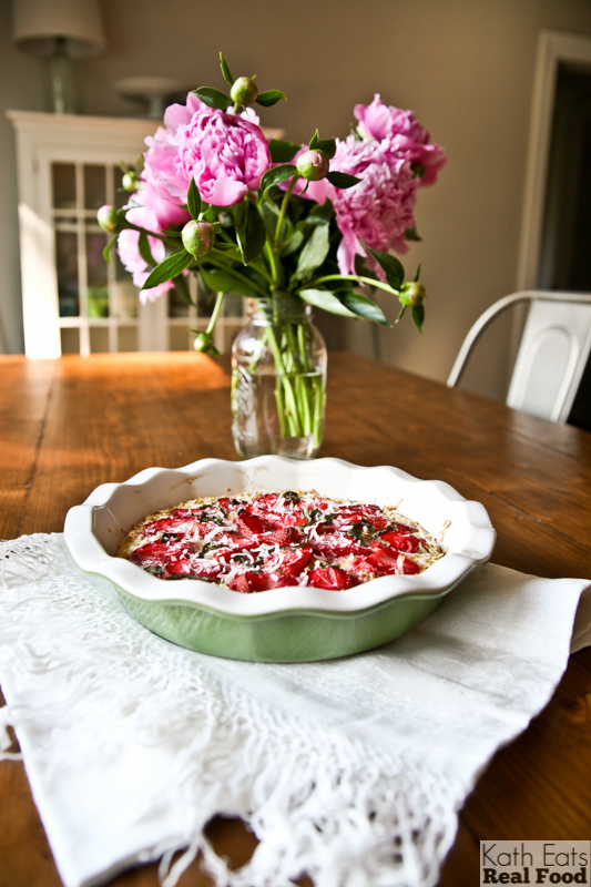 Strawberry Basil Breakfast Pie