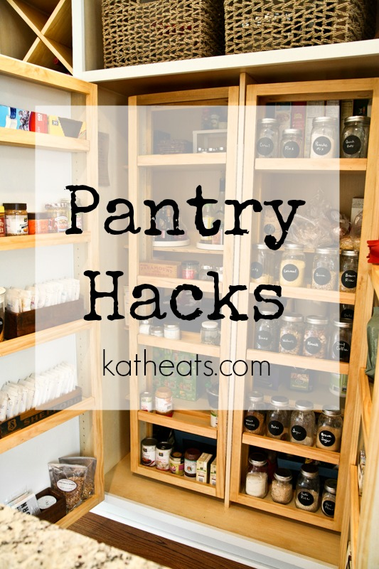 Pantry Hacks for an organized pantry