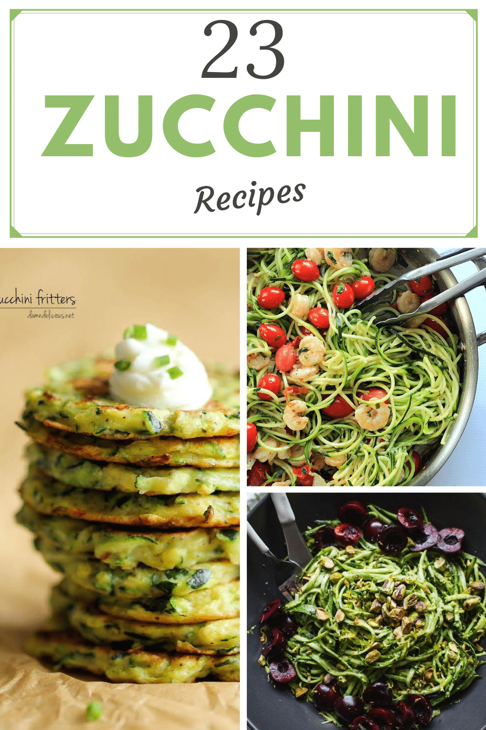 zucchini recipes graphic