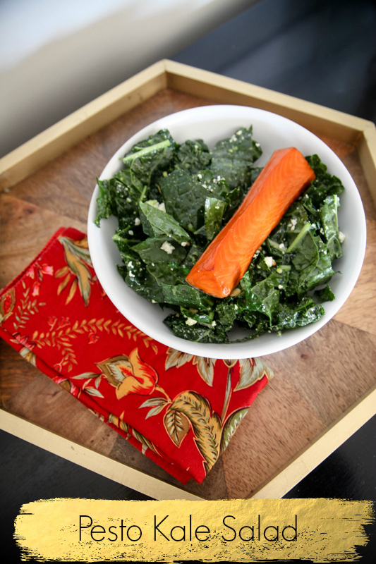 Easy Pesto Kale Salad