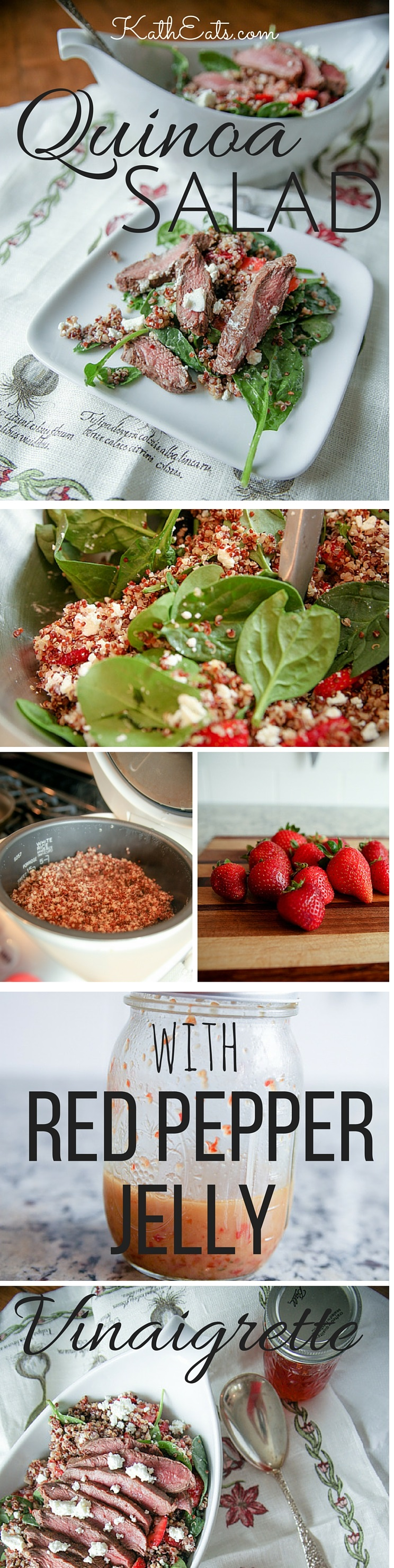 Quinoa Salad with Red Pepper Jelly Vinaigrette Pin