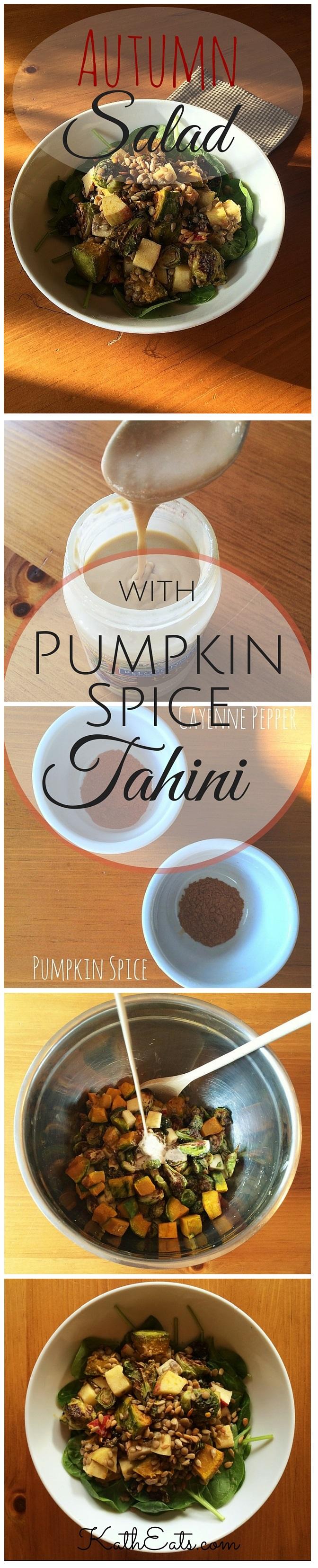 Autumn Salad with Pumpkin Spice Tahini Pin