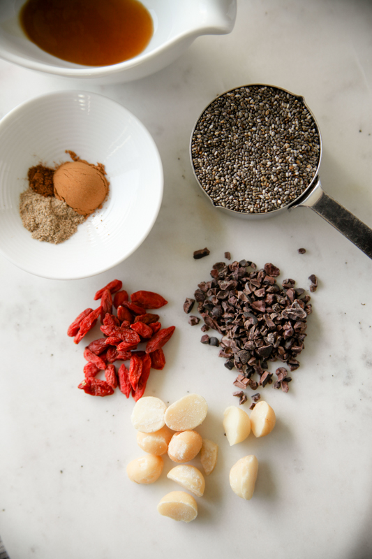 chia seeds with ingredients