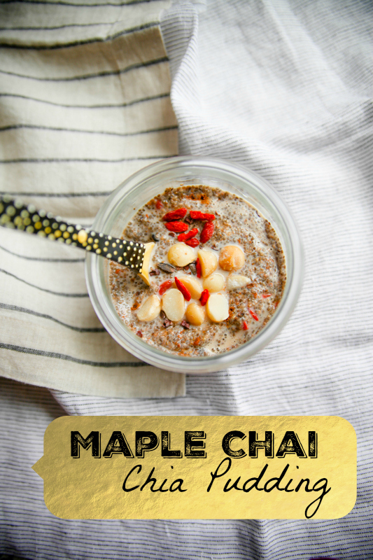 Maple Chai Chia Pudding