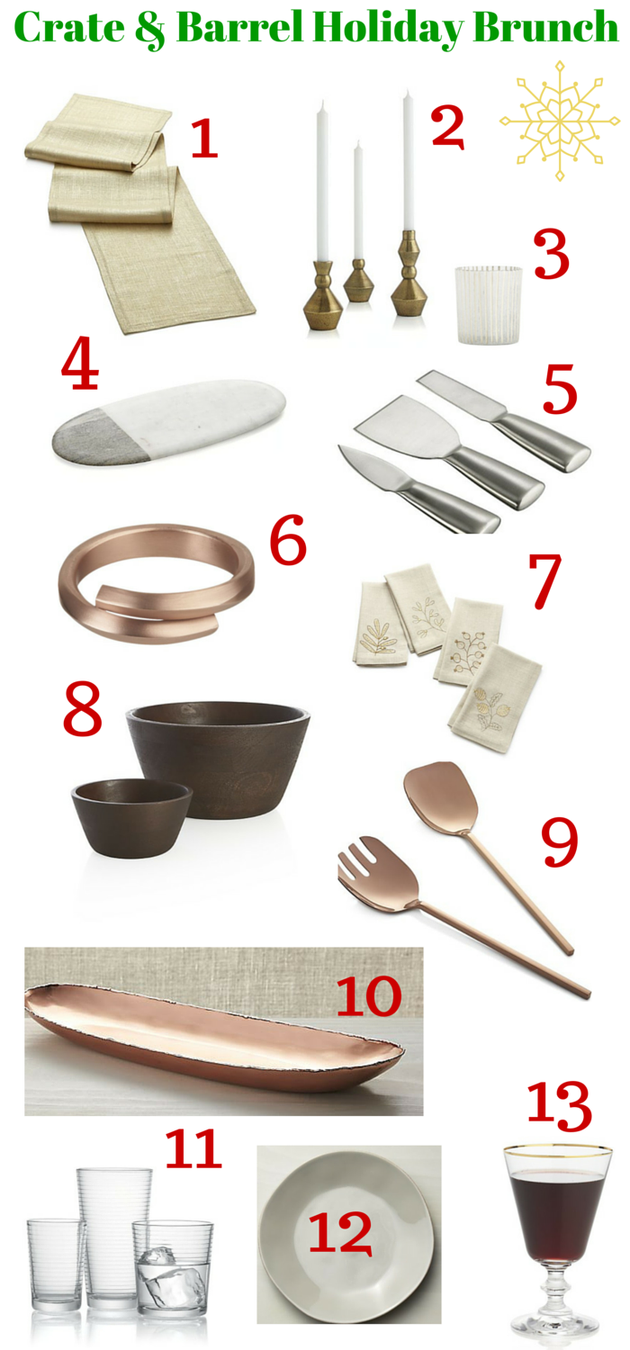 Crate & Barrel Holiday Entertaining Favorites