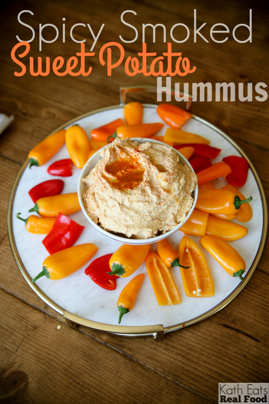 Spicy Smoked Sweet Potato Hummus Kath Eats Real Food