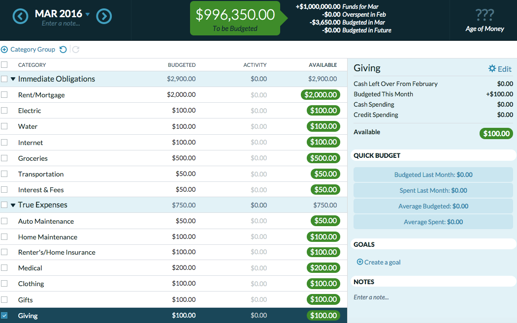 Example 1 of ynab