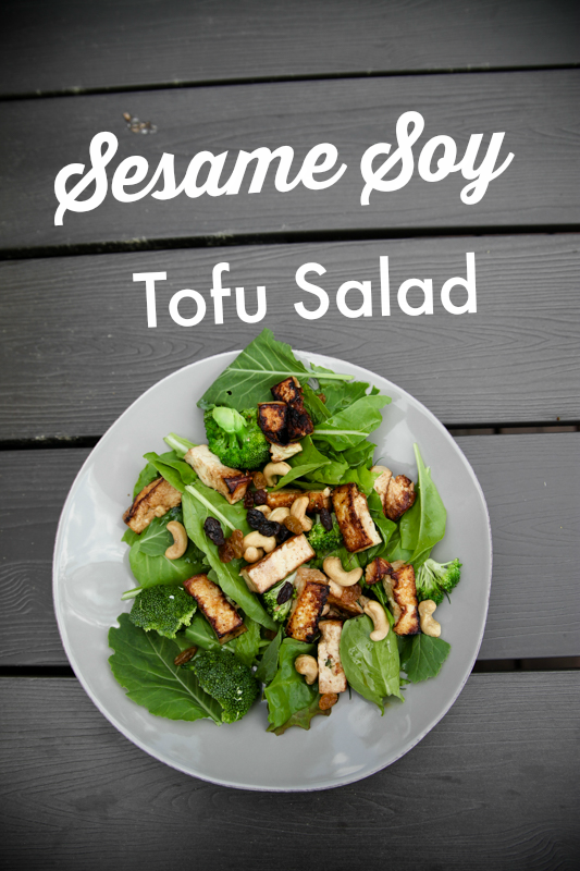 Sesame Soy Tofu Salad