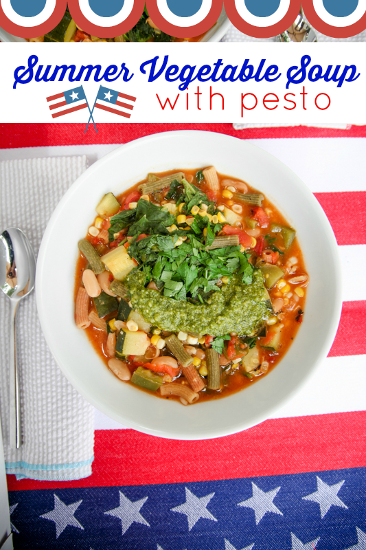 Summer Vegetable Soup With Pesto
