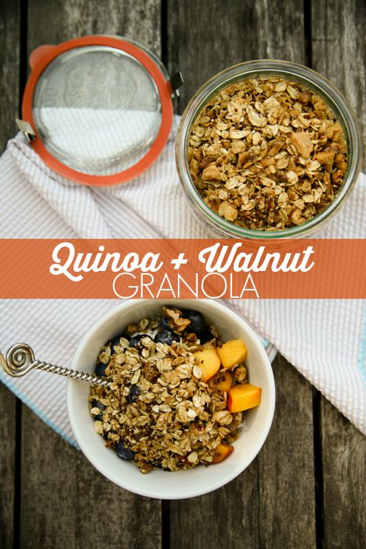 Quinoa and Walnut Granola