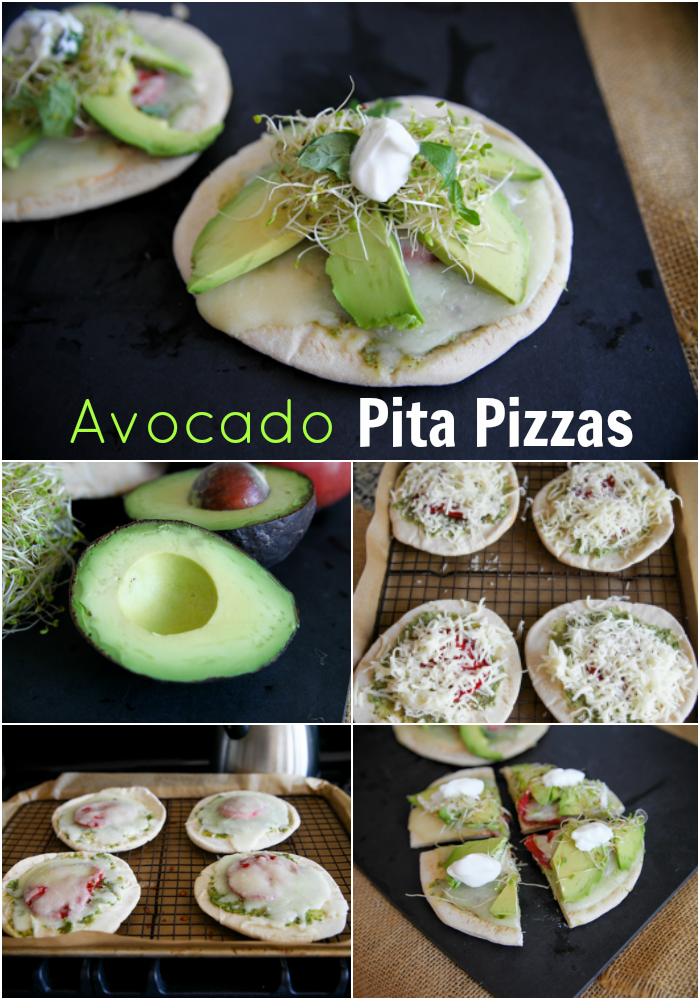 Avocado Pita Pizzas // katheats.com