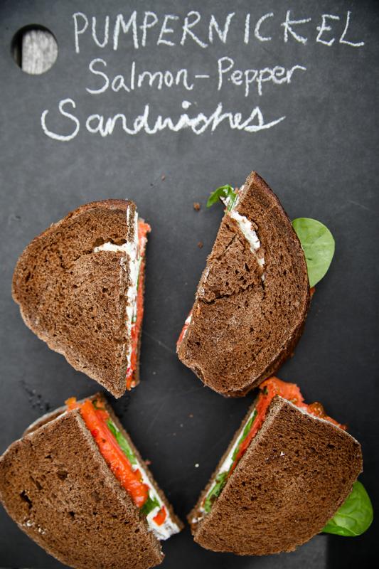 Pumpernickel Salmon Pepper Sandwiches