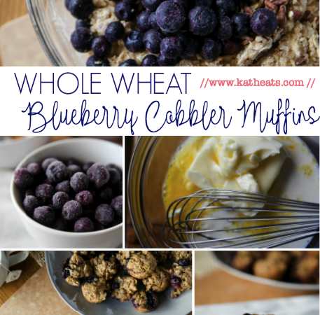 Whole Wheat Blueberry Cobbler Muffins