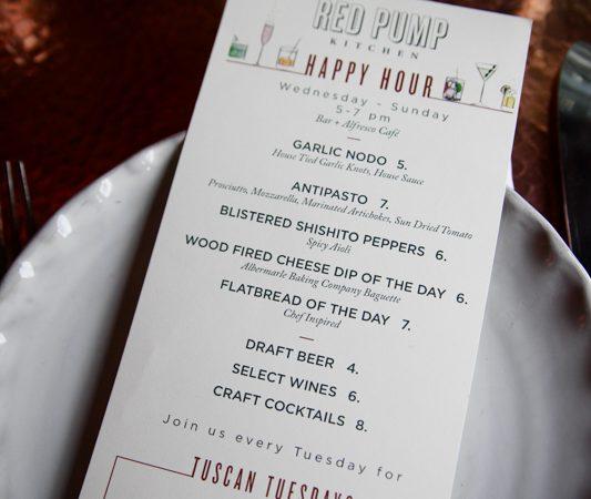 Happy Hour At Red Pump Kitchen