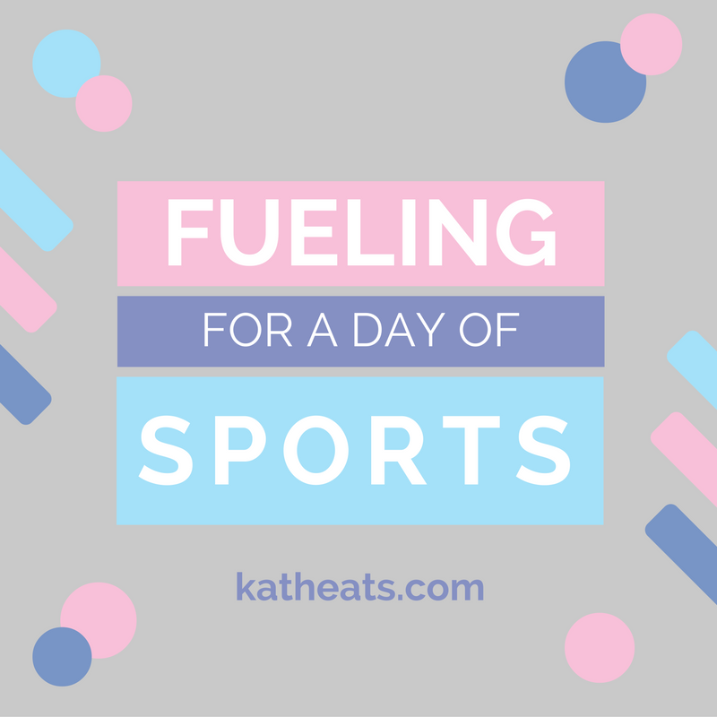 Fueling For A Day Of Sports // katheats.com
