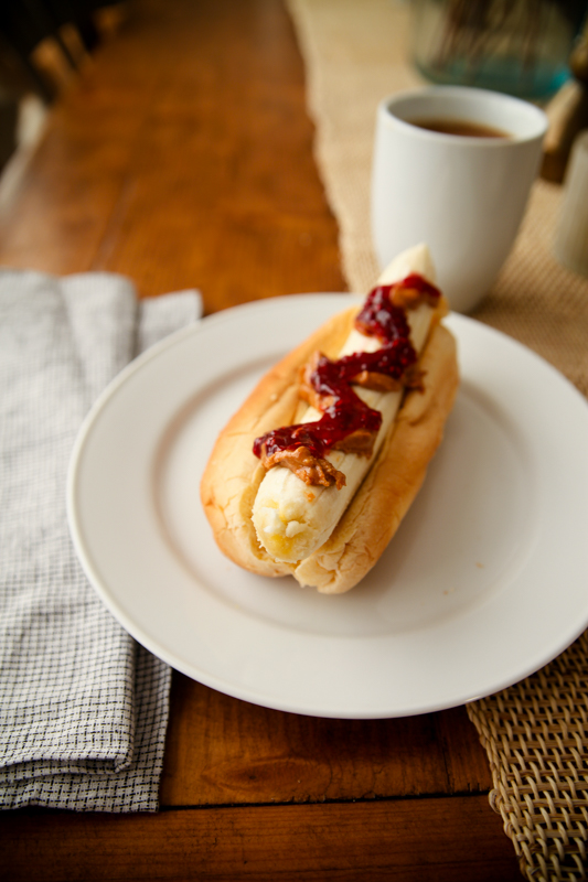 Breakfast Banana Hot Dog