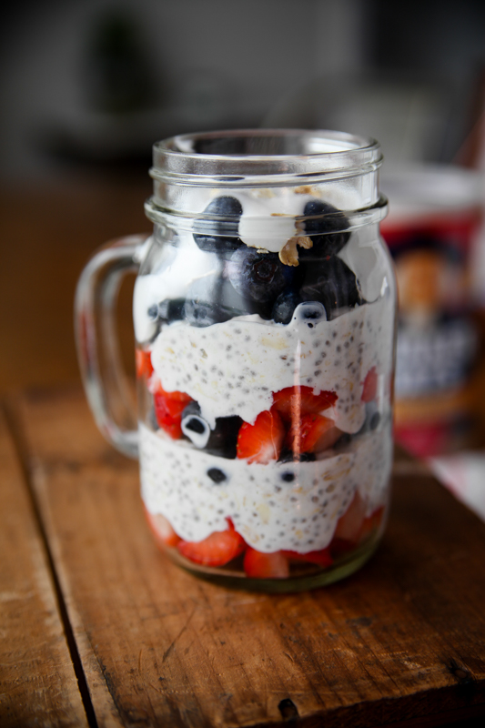 Patriotic Overnight Oats