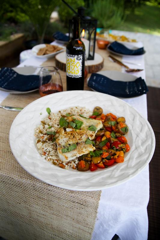 Blue Apron cod and couscous