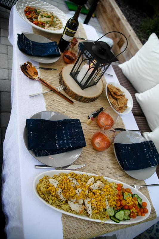 Blue Apron table set