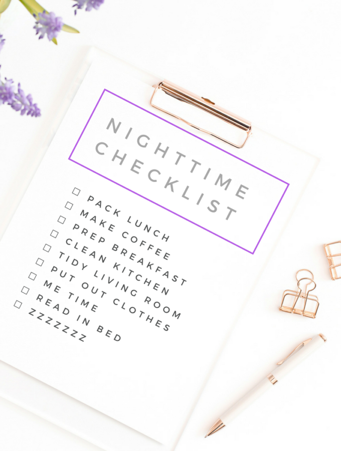 Nighttime Checklist For A Peaceful Morning