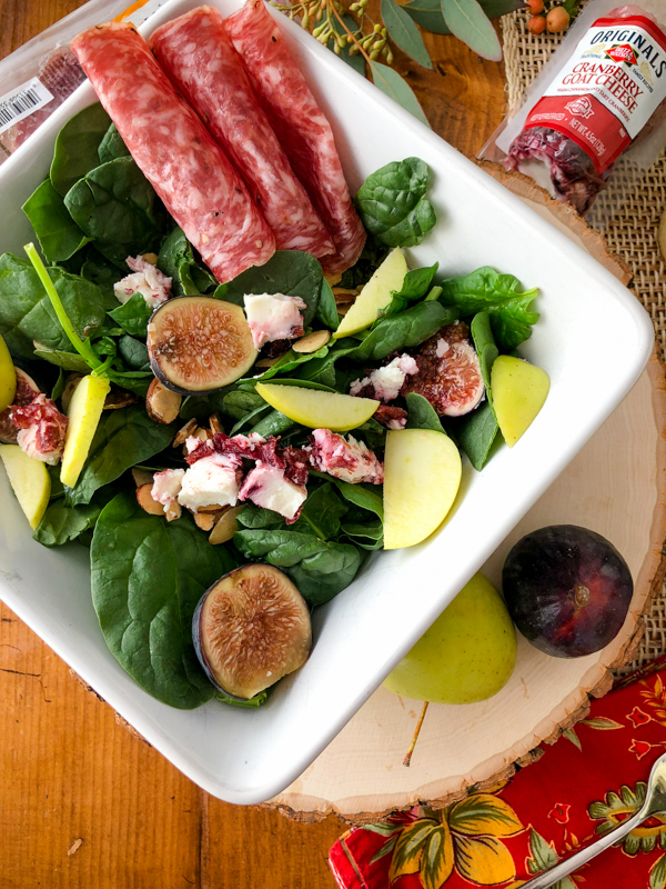 Autumn Salad with Zesty Mustard Dressing