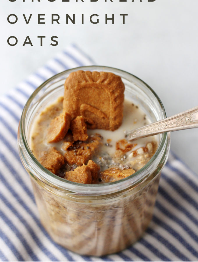 Gingerbread Overnight Oats