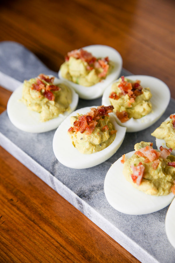 Green (Deviled) Eggs & Ham