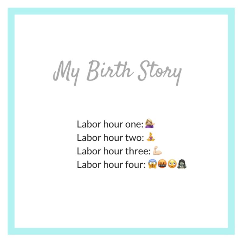 my birth story in emojis