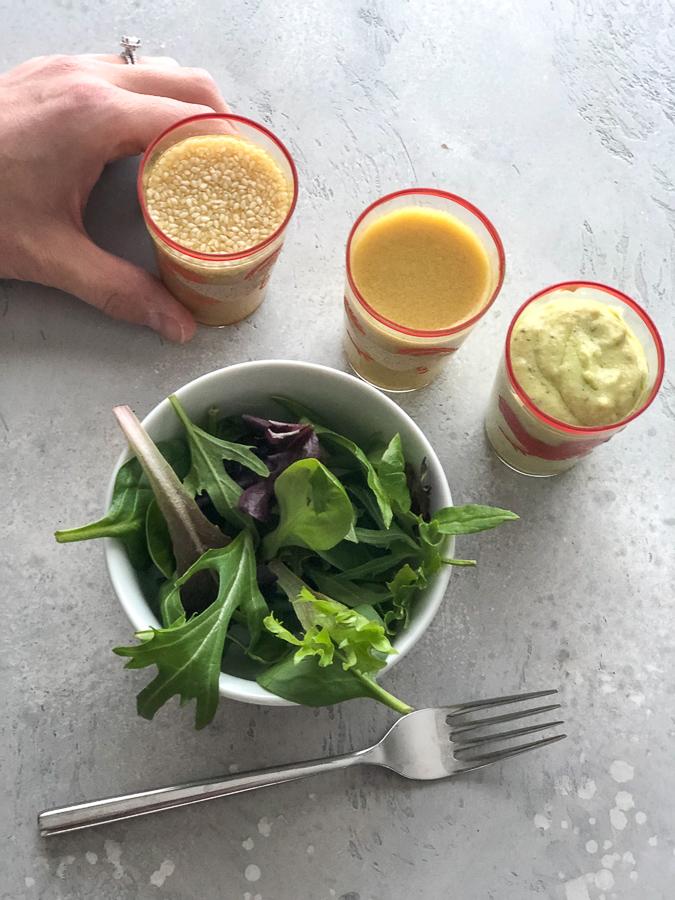 Three Homemade Salad Dressings